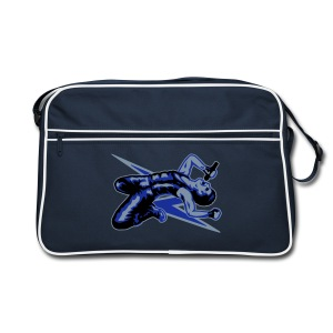 Rock God-Silver/Blue - Retro Bag