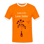 T-Shirts ~ Men's Ringer Shirt ~ Love life, Love salsa