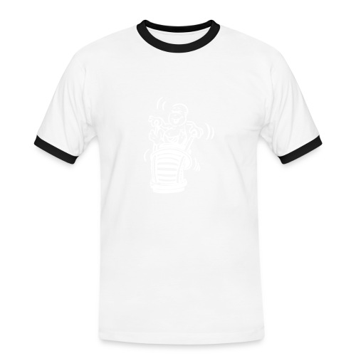 Fotografen Retro-Shirt. Lensbaby - Männer Kontrast-T-Shirt