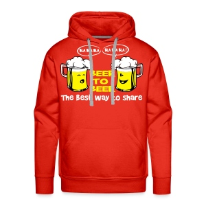 Beer to beer - Sweat-shirt à capuche Premium pour hommes