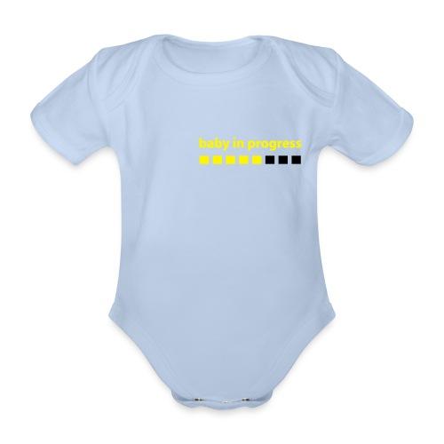 body dziecięce, 0 - 18 miesięcy, baby in progress - Ekologiczne body niemowlęce z krótkim rękawem