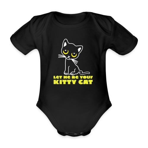 body dziecięce, 0 - 18 miesięcy, kitty cat - Ekologiczne body niemowlęce z krótkim rękawem