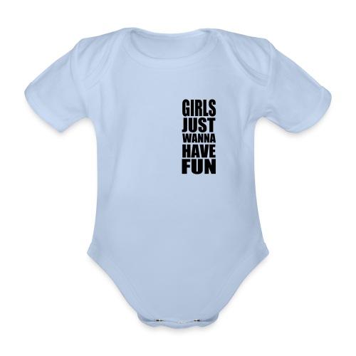 body dziecięce, 0 - 18 miesięcy, girl - Ekologiczne body niemowlęce z krótkim rękawem