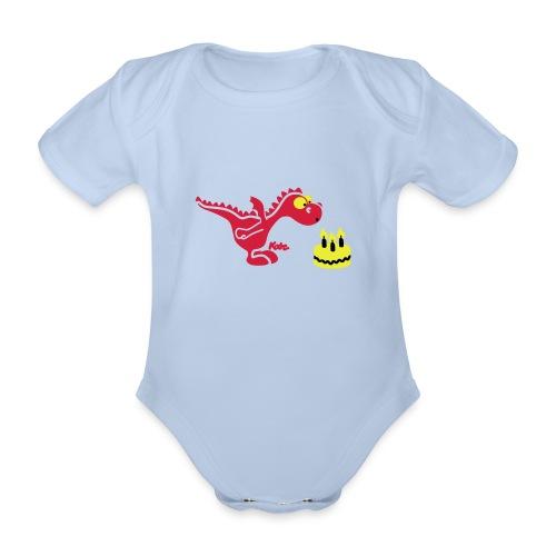 draakje - Baby bio-rompertje met korte mouwen
