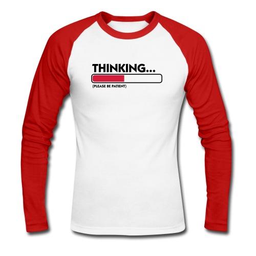Thinking - Maglia da baseball a manica lunga da uomo