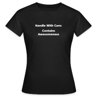T-Shirts ~ Women's T-Shirt ~ WOMENS SIMPLE: Handle with care