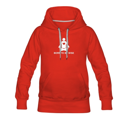 born to be wise - motif front - Women's Premium Hoodie