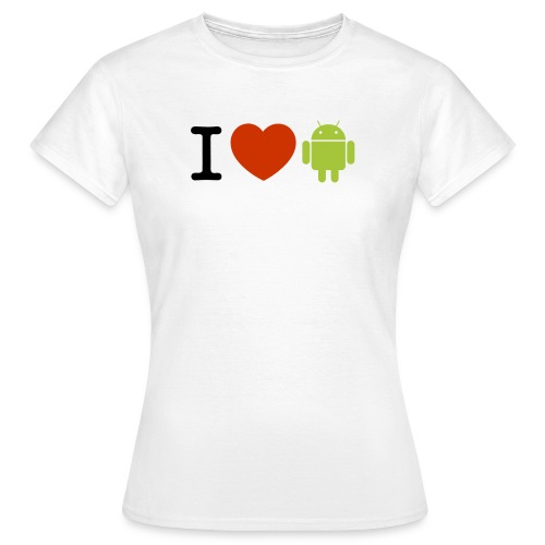 LoveGirldDroid - T-shirt Femme