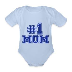 1 mom - Organic Short-sleeved Baby Bodysuit