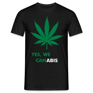 Yes, we canabis - Männer T-Shirt