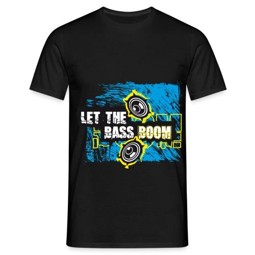 Bass Boom - Männer T-Shirt