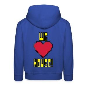 We Love House - Kid's Dark Hoodie 2 - Kids' Premium Hoodie