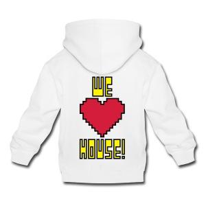 We Love House - Kid's White Hoodie - Kids' Premium Hoodie