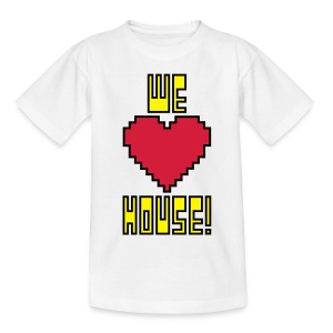 We Love House - Kid's Classic White T-Shirt - Teenage T-shirt
