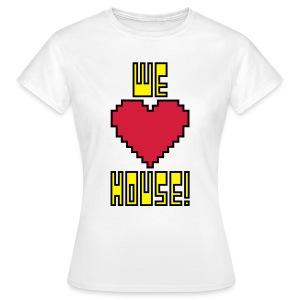 We Love House - Women's Classic White T-Shirt - Women's T-Shirt