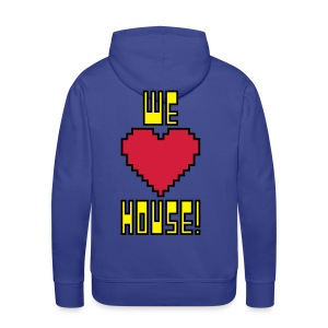 We Love House - Men's Dark Hoodie - Men's Premium Hoodie