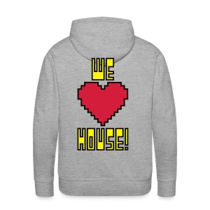 We Love House - Men's Light Hoodie - Men's Premium Hoodie