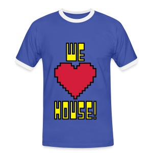 We Love House - Men's Contrast Light T-Shirt - Men's Ringer Shirt