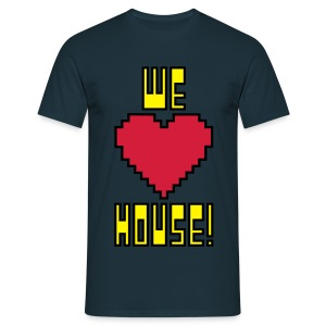 We Love House - Men's Classic Dark T-Shirt - Men's T-Shirt