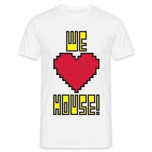 We Love House - Men's Classic White T-Shirt - Men's T-Shirt
