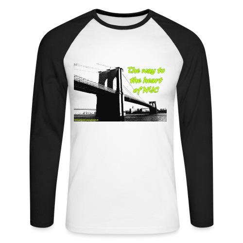 the way to newyork_longsleeve - Männer Baseballshirt langarm
