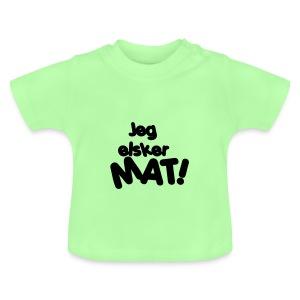 Baby t-skjorte - jeg elsker mat - Baby-T-skjorte