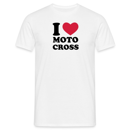I Love Motocross - Männer T-Shirt
