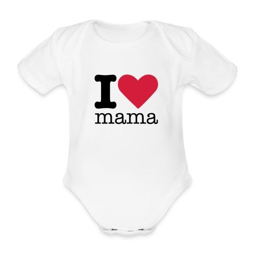 I love mama - Baby bio-rompertje met korte mouwen