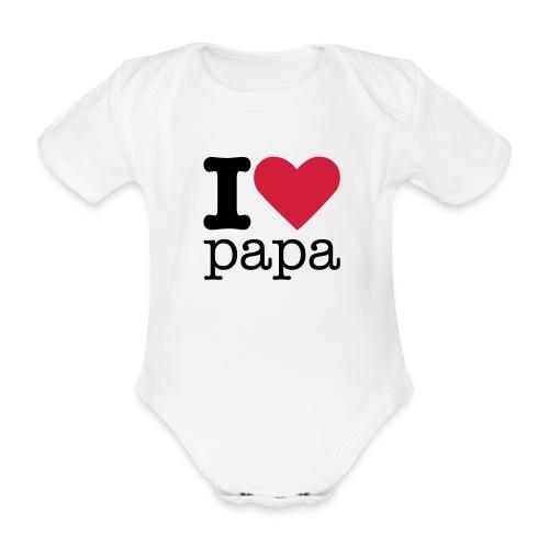 I love papa - Baby bio-rompertje met korte mouwen