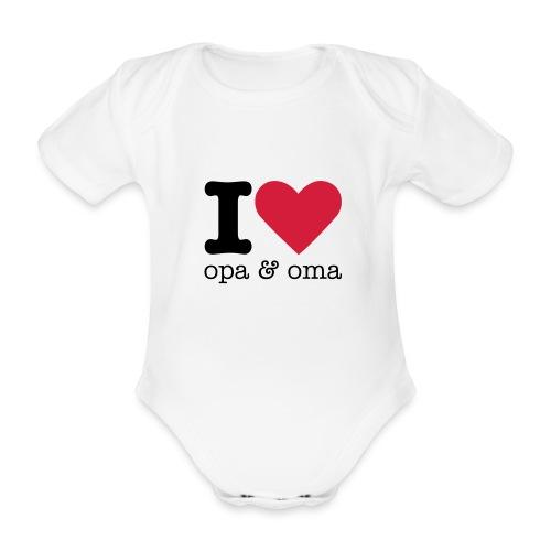 I love opa & oma - Baby bio-rompertje met korte mouwen