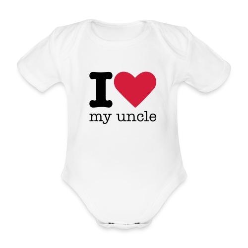 I love my uncle - Baby bio-rompertje met korte mouwen