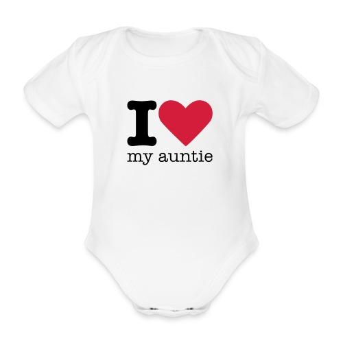I love my auntie - Baby bio-rompertje met korte mouwen