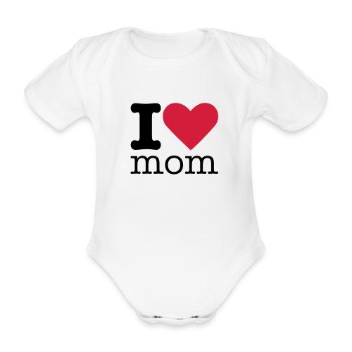 I love mom - Baby bio-rompertje met korte mouwen