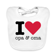 Baby slabbetjes ~ Bio-slabbetje voor baby's ~ I love opa & oma