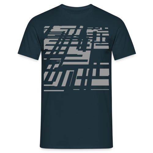 100%COTTON HOLOGRAPHIC DESIGN T-SHIRT - Men's T-Shirt