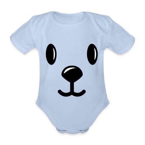 Teddy smiles - Baby Bio-Kurzarm-Body