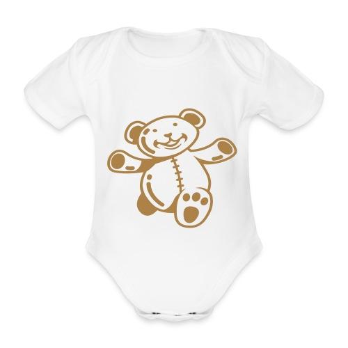 Teddy runs - Baby Bio-Kurzarm-Body