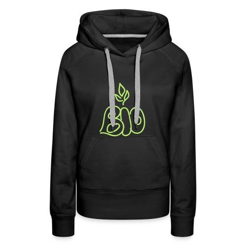 Sweat femme : Bio Attitude ! - Sweat-shirt à capuche Premium pour femmes