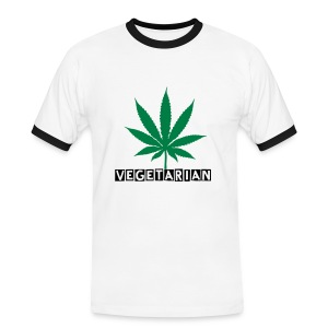Men's Ringer Shirt - cannabis,drug,vegetarin
