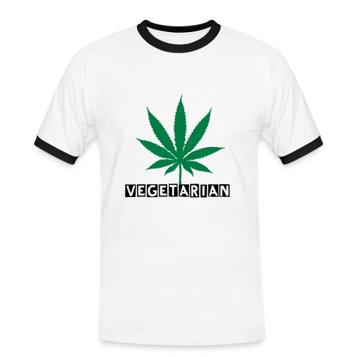 Men's Ringer Shirt - vegetarin,drug,cannabis