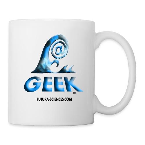 Mug geek wave bleu - Mug blanc