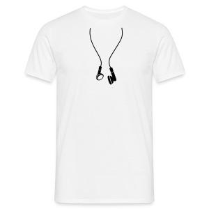 Earphones - Mannen T-shirt