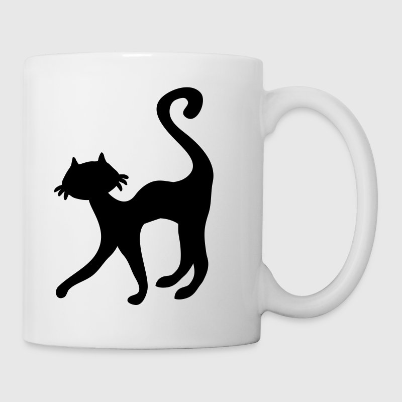 retro black cat sweet silhouette Mugs  - Mug