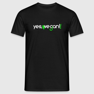 Yes, we can vegan! + neon grün - Männer T-Shirt