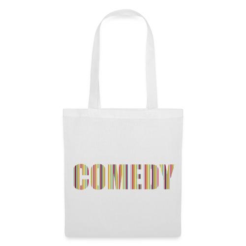 Comedy Tasche Streifen - Stoffbeutel