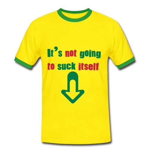 Suck it!!! - Männer Kontrast-T-Shirt
