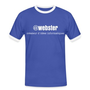 Tee shirt @webster blue - T-shirt contrasté Homme