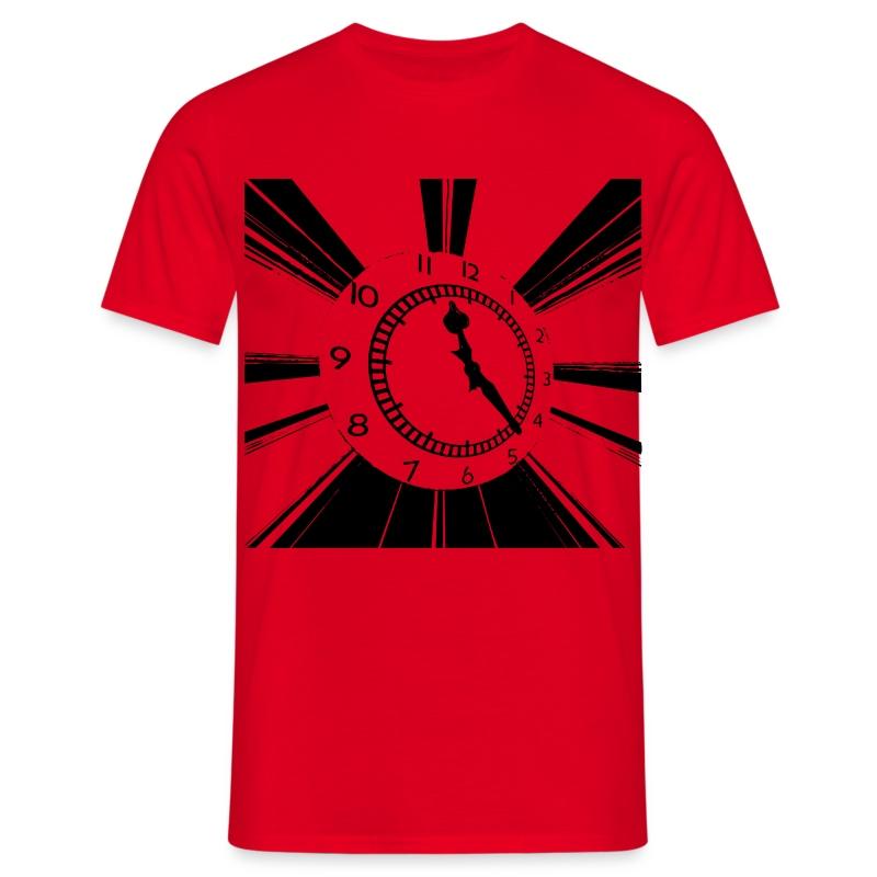 clock_black - Men's T-Shirt