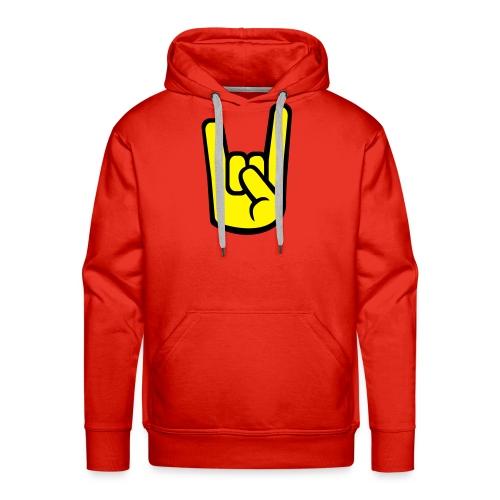 Sweat rouge Main jaune - Sweat-shirt à capuche Premium pour hommes