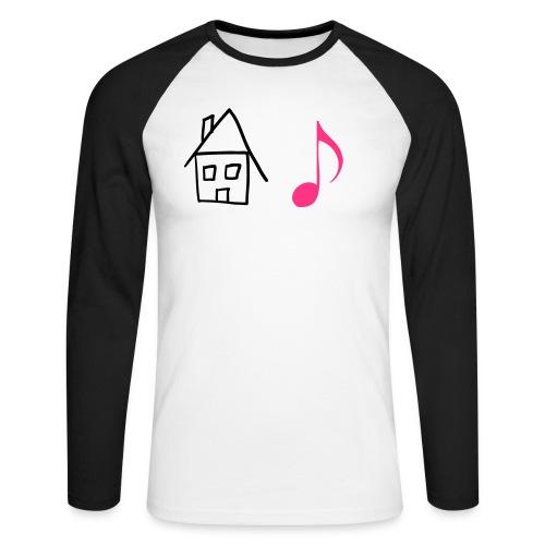 HOUSE MUSIC SHIRT - Männer Baseballshirt langarm